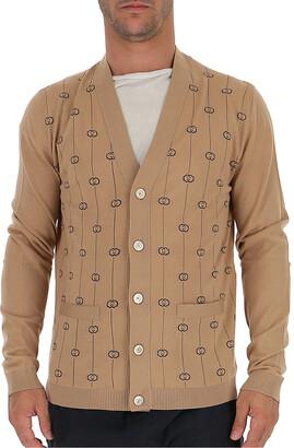 Gucci GG Stripe Embroidered Cardigan