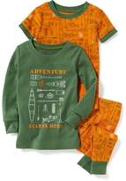 "Old Navy 3-Piece ""Adventure Starts Here"" Graphic Sleep Set for Toddler & Baby"