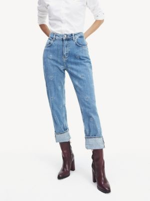 Tommy Hilfiger Straight Leg Embroidery Jeans