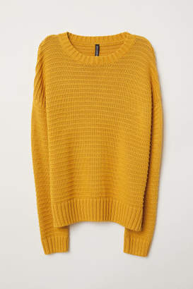 H&M Textured-knit jumper