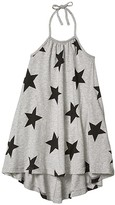 Nununu Star Collar Dress (Infant/Toddler/Little Kids) (Heather Grey) Girl's Clothing