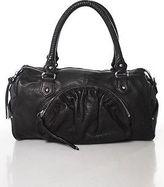 Botkier Umber Brown Leather Full Zipper Silver Tone Satchel Handbag