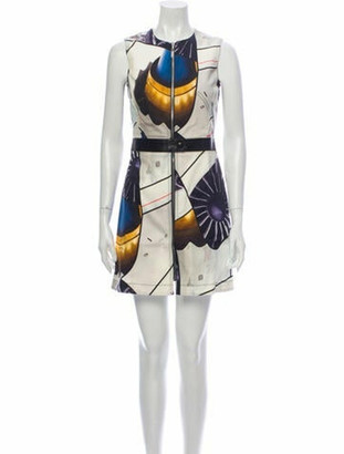 Louis Vuitton Printed Mini Dress w/ Tags White