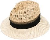 Eleventy trilby hat - women - Viscose/Straw - L