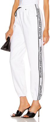 Alexander Wang Track Pant in Optic White | FWRD