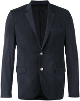 Lanvin embellished button checked blazer - men - Cupro/Wool - 50