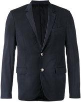 Lanvin embellished button checked blazer