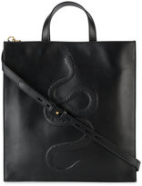 Gucci Snake embossed tote - men - Leather - One Size