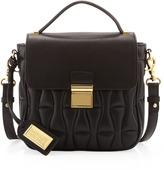 Badgley Mischka Badgley Quilted Flap Crossbody Bag, Black