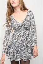byCORPUS Long Sleeve Wrap Circle Dress