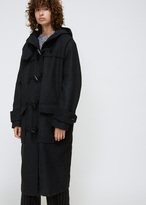 Hope Black Melange Low Coat