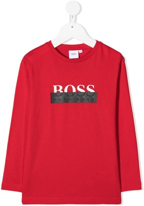 Boss Kidswear logo print T-shirt