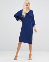 Liquorish Shift Dress With Navy Tassels