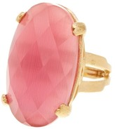 Rivka Friedman 18K Gold Clad Cat's Eye Crystal Satin Ring