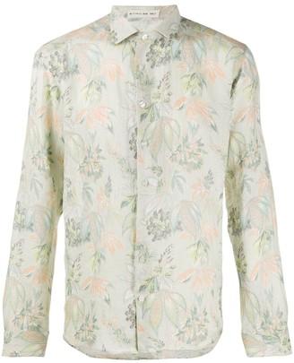 Etro Floral Print Spread Collar Shirt