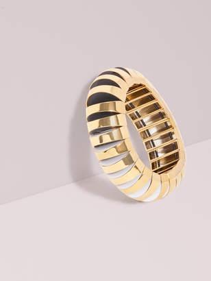 Kate Spade sliced scallops large metal stretch bracelet