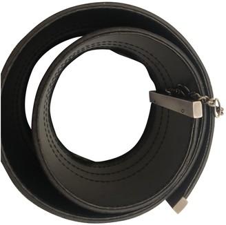 Dirk Bikkembergs Black Leather Belts