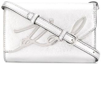 Karl Lagerfeld Paris K/Signature metallic belt bag