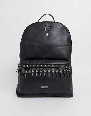 Spiral Black Label backpack with stud detailing