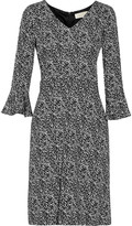 Goat Cristiana printed stretch-crepe dress