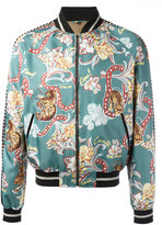Roberto Cavalli tiki tiger bomber jacket - men - Cotton/Polyamide/Polyester/Viscose - 50