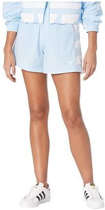 adidas Large Logo Shorts (Clear Sky/White) Women's Shorts