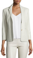 The Row Nolbon Leather Two-Button Jacke