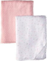 Mud Pie Heart Bamboo Swaddles Set (Infant)