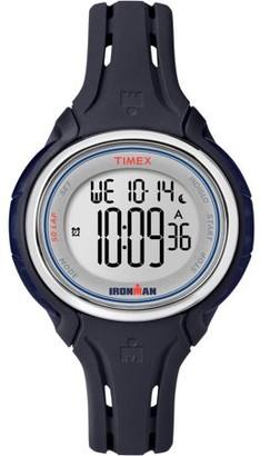 Timex Women's Ironman Sleek 50 Mid-Size Watch, Dark Blue Silicone Strap