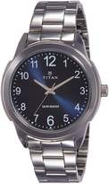 Titan Men's 'Neo' Quartz Metal and Brass Automatic Watch, Color:Silver-Toned (Model: 1585SM05)