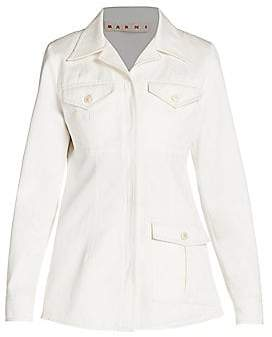 Marni Women's Cotton Sateen Shirt Jacket