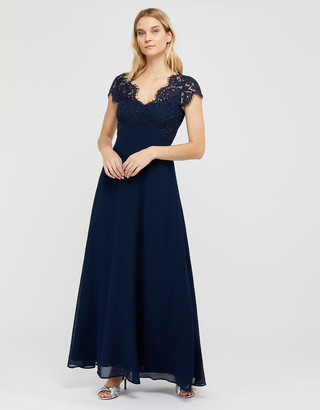 Under Armour Marne Maxi Dress with Floral Lace Blue