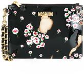 Moschino floral burnt effect clutch