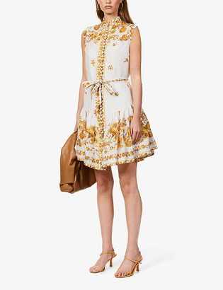 Zimmermann Amelie floral-print linen mini dress