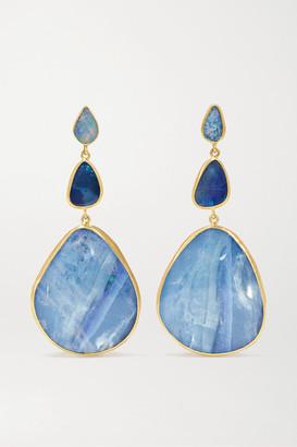 Pippa Small 18-karat Gold Opal Earrings - one size