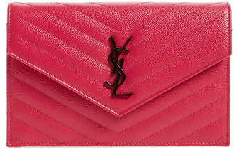 Saint Laurent 'Monogram' Quilted Leather Wallet on a Chain