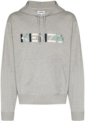 Kenzo Logo-Embroidered Cotton Hoodie