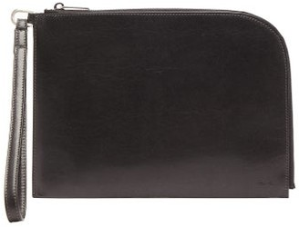 Rick Owens Distressed Leather Pouch - Womens - Black