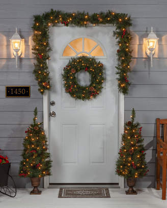 Sterling Tree Company Assorted Set Of 4 Jefferson Pine Seasonal Entryway Greenery