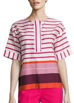Piazza Sempione Striped Cotton Top