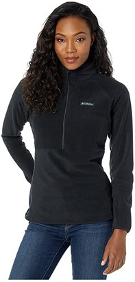 Columbia Basin Trailtm Fleece 1/2 Zip (Black) Women's Long Sleeve Pullover