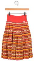 Junior Gaultier Girls' Solene Printed Skirt w/ Tags