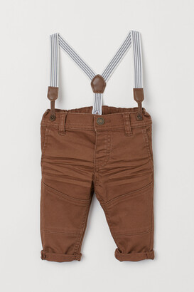 H&M Twill Pants with Suspenders