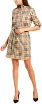Burberry Vintage Check Tie-Waist Shirtdress