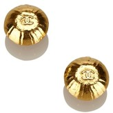 Chanel Gold Tone Metal CC Clip-On Earrings