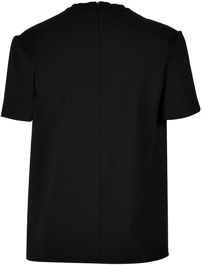Marios Schwab T-Shirt Top with Necklace Embellishment
