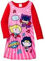 Komar Justice League Reversible Nightgown (Toddler Girls)