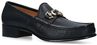 Gucci Leather Interlocking G Horsebit Loafers