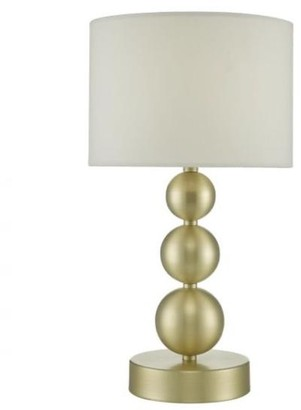 Paige Brushed Gold Table Lamp With Shade