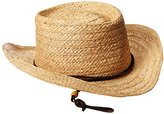 San Diego Hat Company San Diego Hat Co. Men's Straw Gambler Hat with Leather Chin Cord